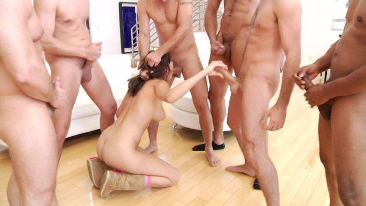 Streaming porn video still #2 from Gangbanged 4