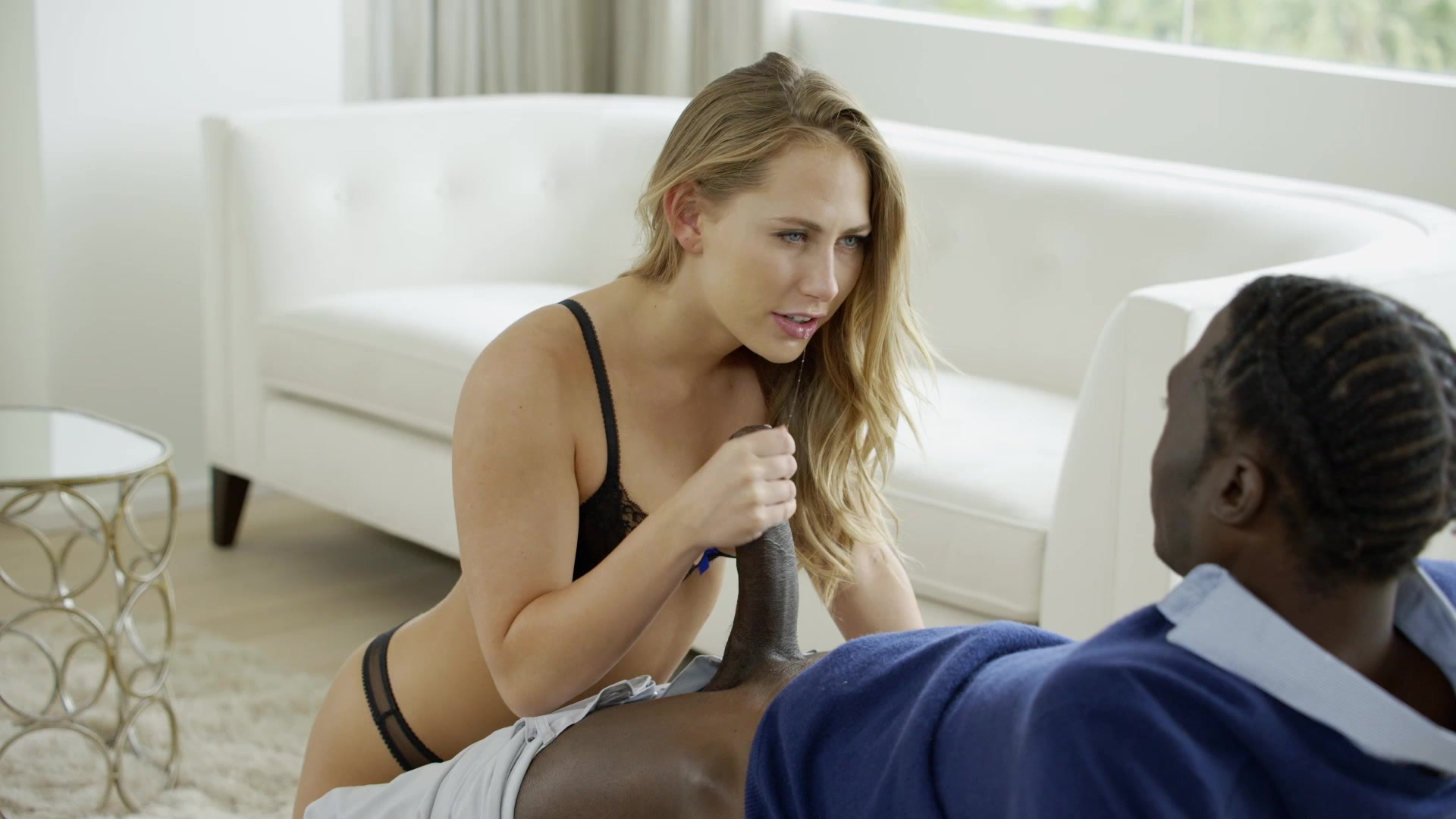 Brooke haze takes a break from hiking to suck a cock