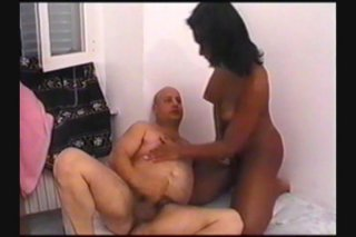 Streaming porn scene video image #8 from Bald Fat Guy Bangs Hot Tranny