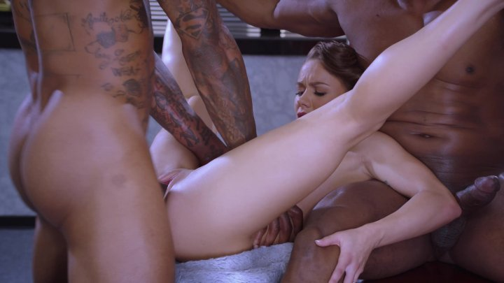 Streaming porn video still #1 from Interracial Threesomes Vol. 9