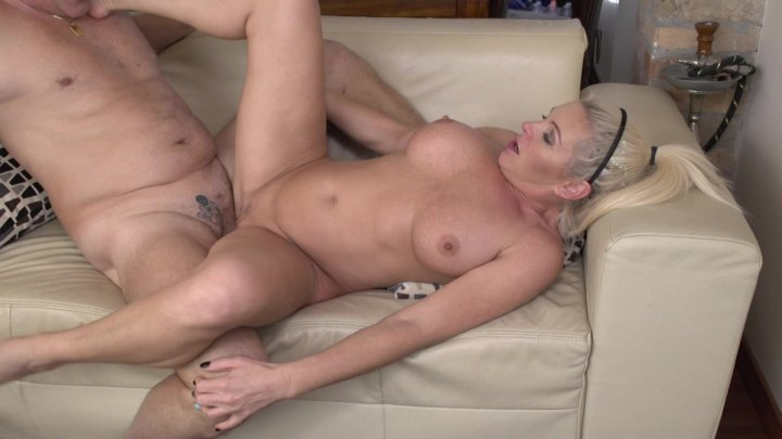 Streaming porn video still #1 from Grannies Take A Load Off