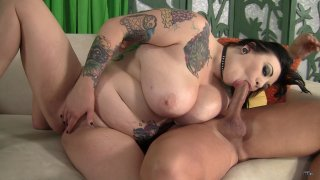 Streaming porn scene video image #2 from Christian Enjoys Tatted BBW's Tight Pussy