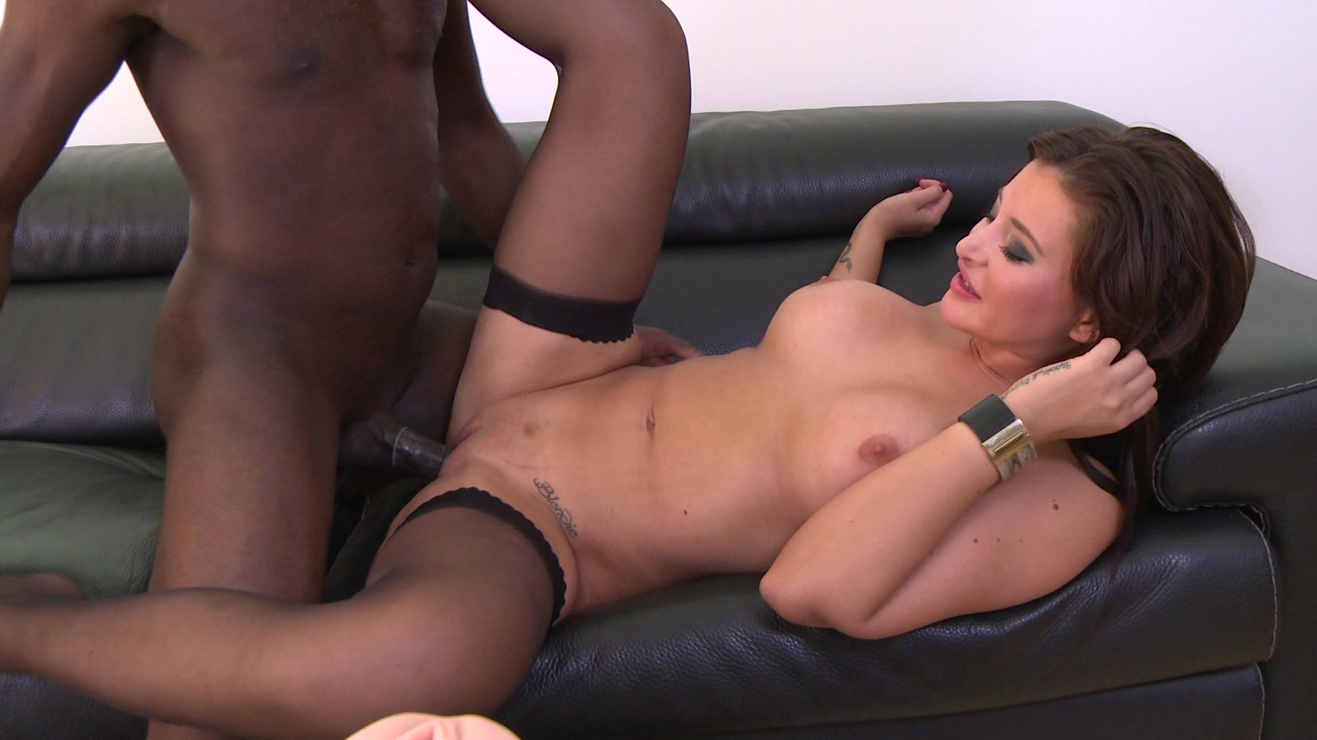 Stunning russian blonde anna polina rammed by big black cock after good cock suck