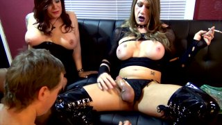 Streaming porn video still #2 from TGirl Bitches In Charge