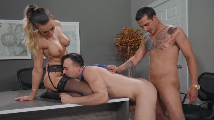 Streaming porn video still #2 from Work Hard, Play Bi
