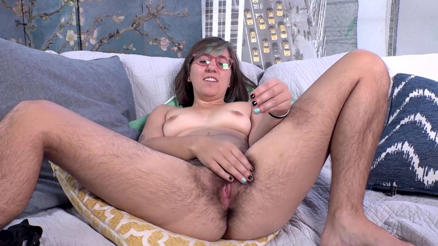 Scary hairy woman