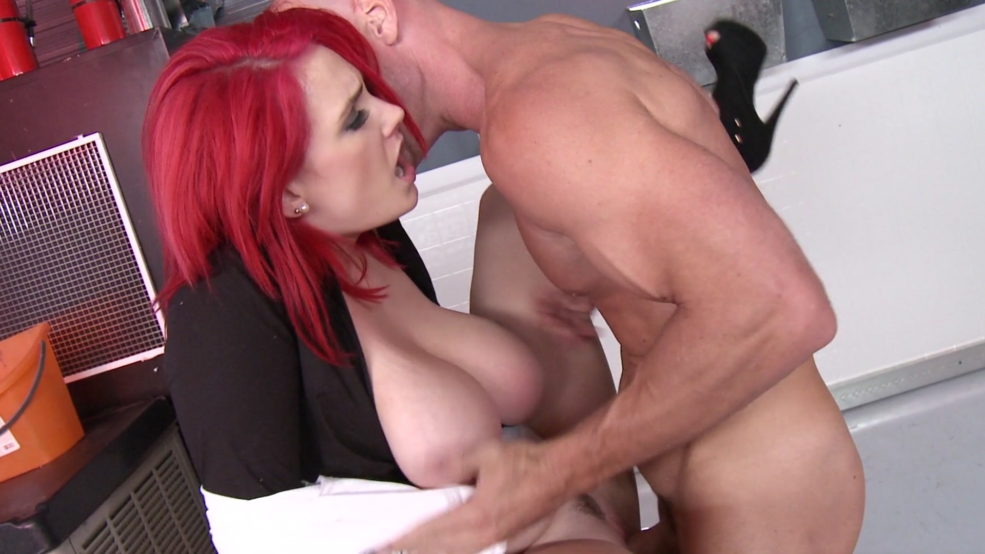 Red haired babe with small tits, miley cole is enjoying while getting fucke dvery hard