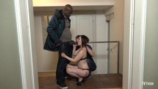 Streaming porn scene video image #1 from Sissy White Guy Gets Cuckold By His GF With A BBC