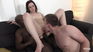 Streaming porn scene video image #4 from Sissy White Guy Gets Cuckold By His GF With A BBC