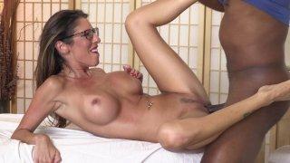 Sexy Interracial Massage