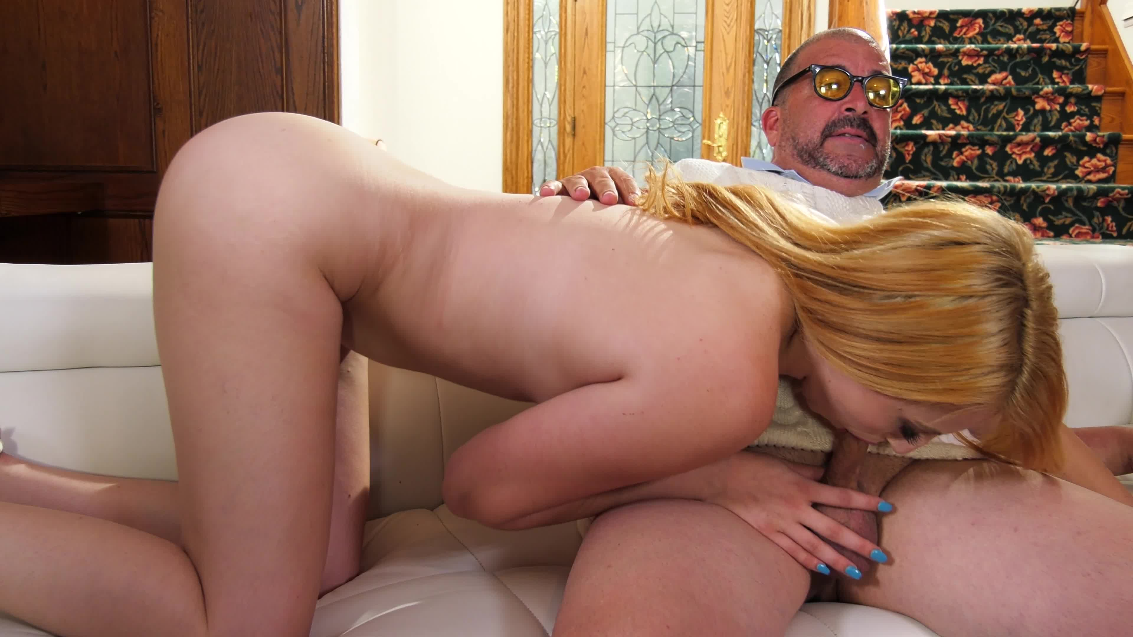 Horny girl and dad