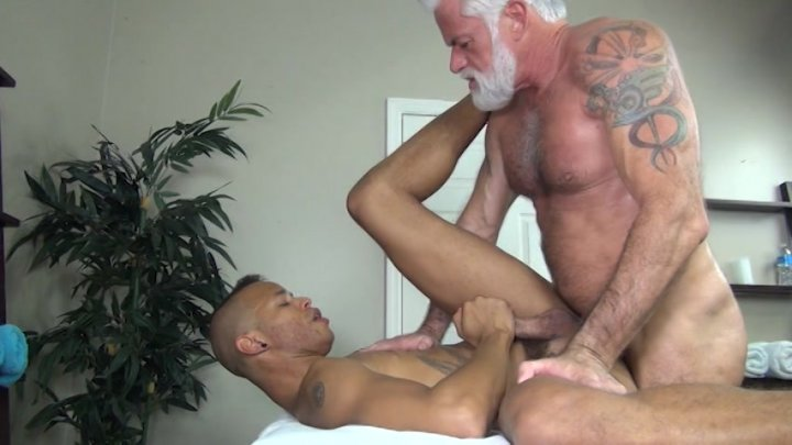 Streaming porn video still #2 from Rocco Steele's Dad's Bareback Massage