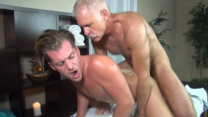 Streaming porn video still #1 from Rocco Steele's Dad's Bareback Massage