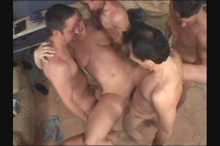 Streaming porn scene video image #3 from Hot blonde get double penetration on gangbang