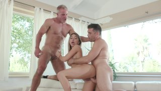 Kat Dior Gets Busy with Two Big Dicks