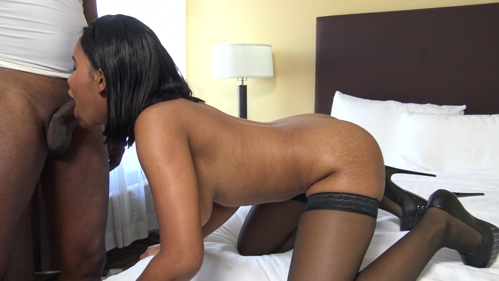 Ebony booty worship
