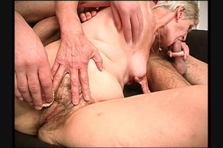 Streaming porn scene video image #3 from Grandma Gets The Pleasure Of Two Young Cocks