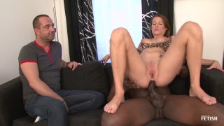 Streaming porn scene video image #5 from Sissy Man Has His GF Fucked By A Big Black Dick