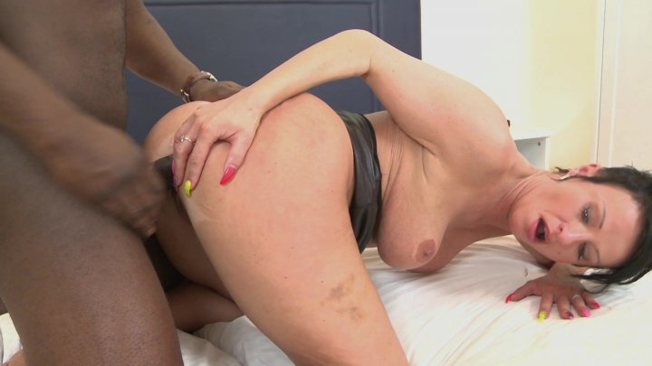 Streaming porn video still #4 from Mommy Likes Black Cock In Her Ass #2