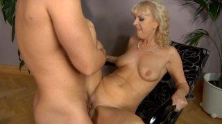 Streaming porn video still #5 from Grandma Loves Cock 4