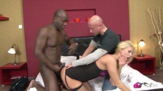 Streaming porn scene video image #5 from Blonde Hoe Cuckolds Her Sissy BF With BBC