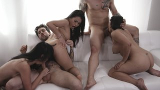 Streaming porn video still #6 from Asian Orgy