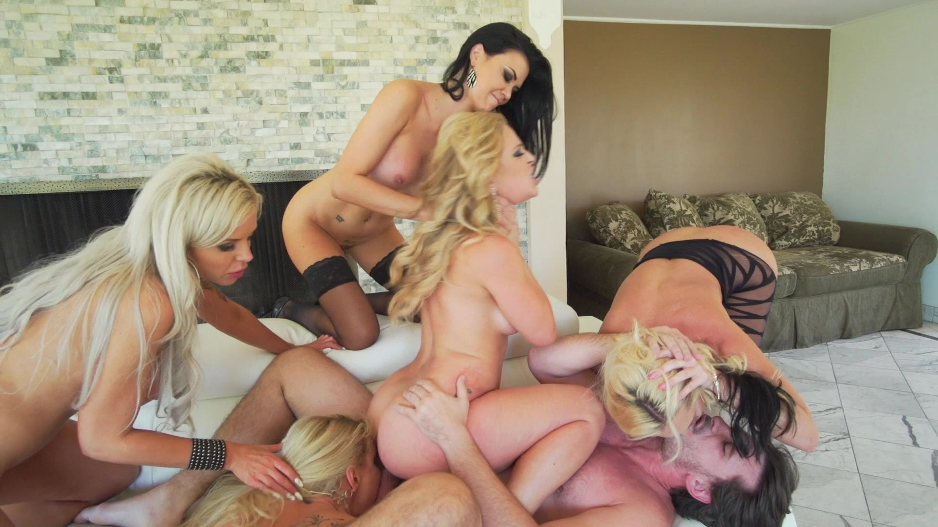 Reverse gangbang beautiful women