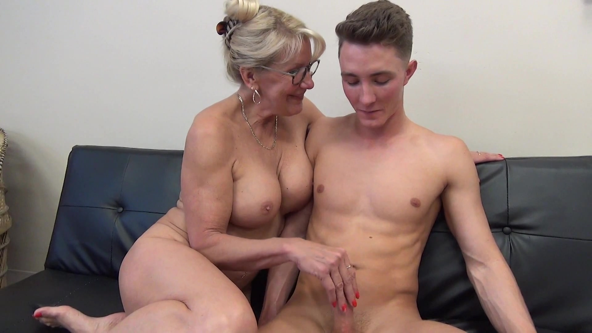 Son forces his mom creampie hot porn
